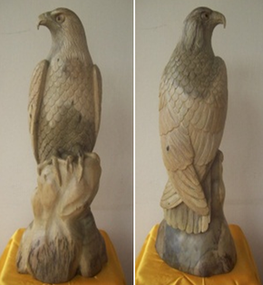 Wood Carving Eagle Indonesian Roots